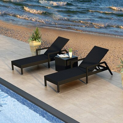 Eichhorn 3 Piece Lounge Seating Group Finish: Coffee Bean