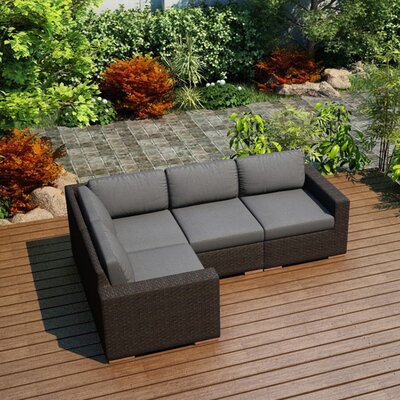 Arden Modular Sectional Fabric: Canvas Charcoal