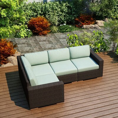 Arden Modular Sectional Fabric: Canvas Spa