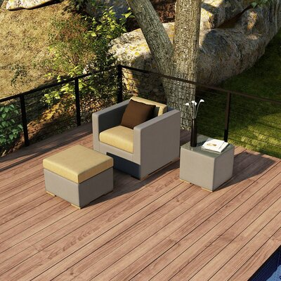 Element 3 Piece Deep Seating Group with Cushion Fabric: Heather Beige