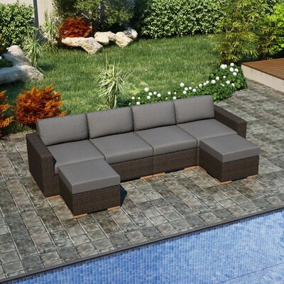 Arden Sectional Fabric: Canvas Charcoal