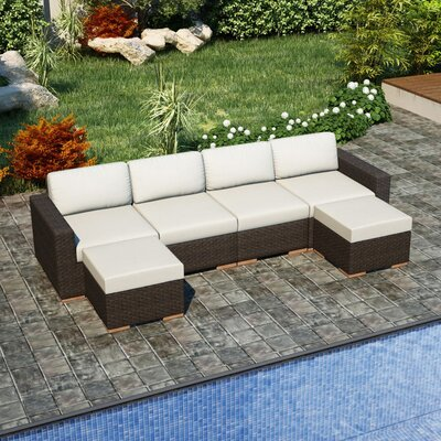 Arden Sectional Fabric: Canvas Natural