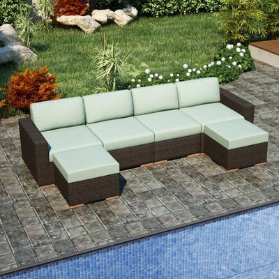 Arden Sectional Fabric: Canvas Spa