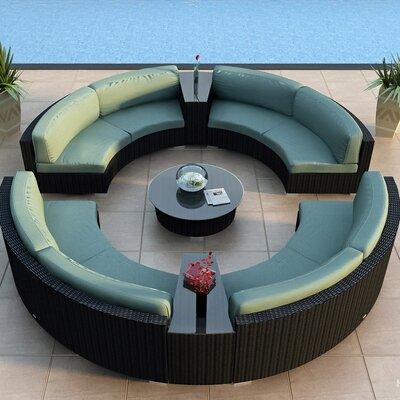 Eichhorn 7 Piece Deep Seating Group with Cushion Finish: Coffee Bean, Fabric: Canvas Spa