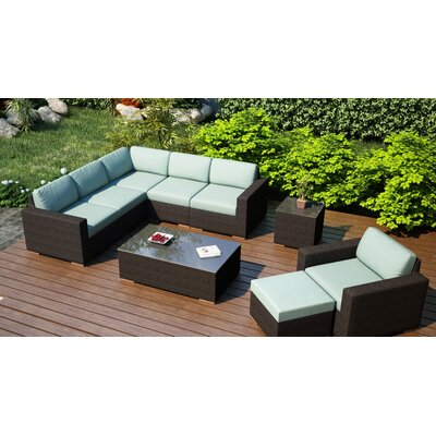 Arden 8 Piece Lounge Seating Group with Cushion Fabric: Canvas Spa