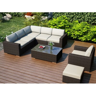 Arden 8 Piece Lounge Seating Group with Cushion Fabric: Canvas Natural