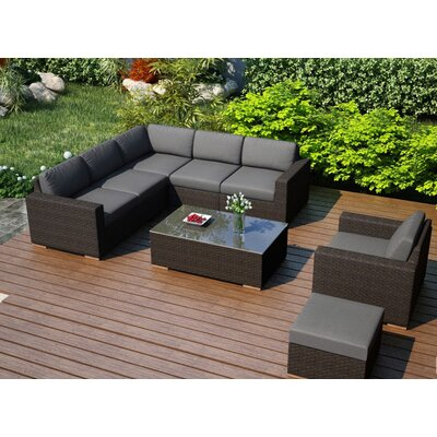 Arden 8 Piece Lounge Seating Group with Cushion Fabric: Canvas Charcoal