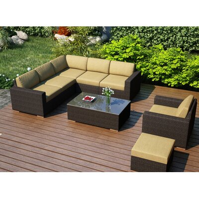 Arden 8 Piece Lounge Seating Group with Cushion Fabric: Heather Beige