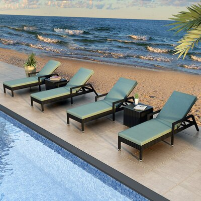 Eichhorn 6 Piece Lounge Seating Group with Cushion Finish: Coffee Bean, Fabric: Canvas Spa