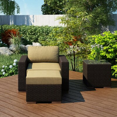 Arden 3 Piece Deep Seating Group with Cushion Fabric: Heather Beige