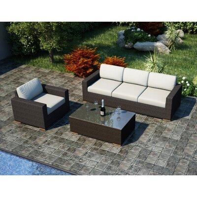 Arden 3 Piece Sofa Set with Cushions Fabric: Canvas Natural