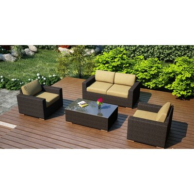 Arden 4 Piece Deep Seating Group with Cushion Fabric: Heather Beige