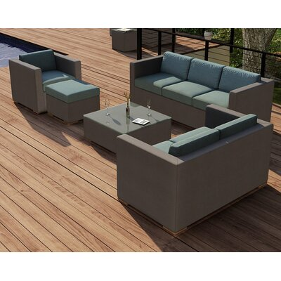 Element 5 Piece Deep Seating Group with Cushion Fabric: Canvas Spa