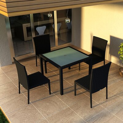 Eichhorn 5 Piece Dining Set Finish: Coffee Bean
