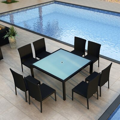 Eichhorn Contemporary 9 Piece Dining Set Finish: Coffee Bean