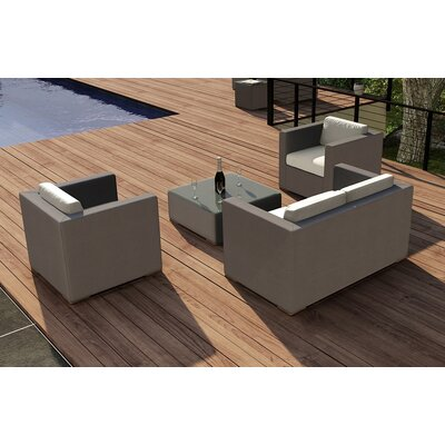 Element 4 Piece Deep Seating Group with Cushion Fabric: Canvas Natural