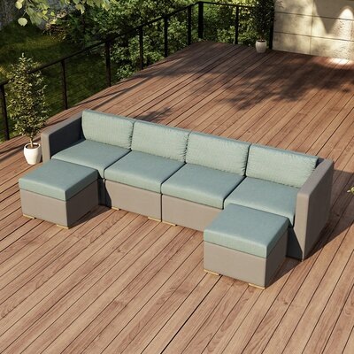 Element Sectional Fabric: Canvas Spa