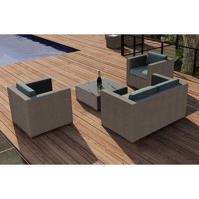 Element 4 Piece Deep Seating Group with Cushion Fabric: Canvas Spa