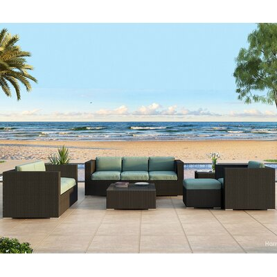 Eichhorn 5 Piece Deep Seating Group with Cushion Finish: Coffee Bean, Fabric: Canvas Spa