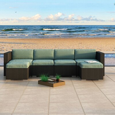 Eichhorn Sectional Finish: Coffee Bean, Fabric: Canvas Spa