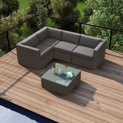 Element Deep Seating Group Cushion Fabric Canvas Charcoal - Product photo