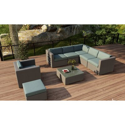Element 8 Piece Lounge Seating Group with Cushion Fabric: Canvas Spa