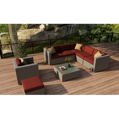 Element 8 Piece Lounge Seating Group with Cushion Fabric: Canvas Henna