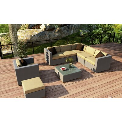 Element 8 Piece Lounge Seating Group with Cushion Fabric: Heather Beige