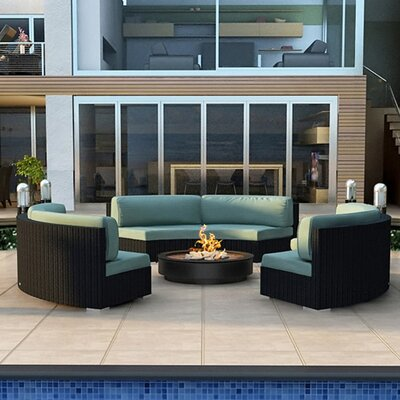 Eichhorn 3 Piece Wicker Deep Seating Group with Cushion Finish: Coffee Bean, Fabric: Canvas Spa