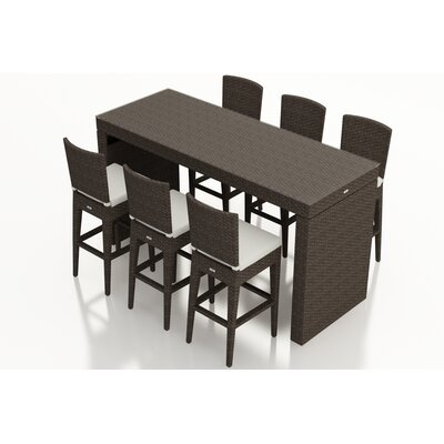 Arden 7 Piece Bar Set with Cushions Fabric: Canvas Natural