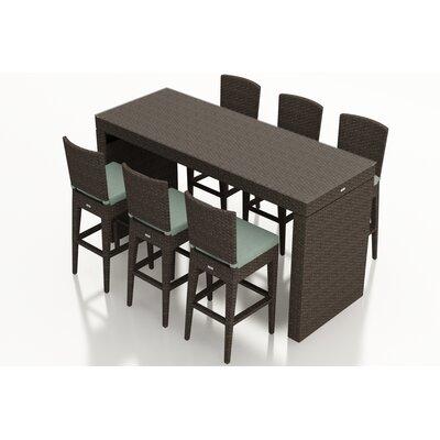 Arden 7 Piece Bar Set with Cushions Fabric: Canvas Spa