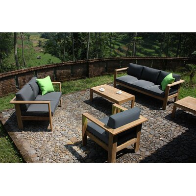Ando 4 Piece Deep Seating Group with Cushions Fabric: Heather Beige