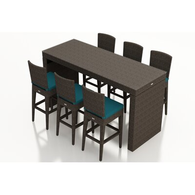 Arden 7 Piece Bar Set with Cushions Fabric: Spectrum Peacock