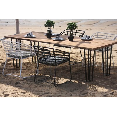 Exo Dining Table Size: 94.5 L x 40 W x 29.5 H