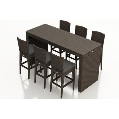 Arden 7 Piece Bar Set with Cushions Fabric: Canvas Charcoal