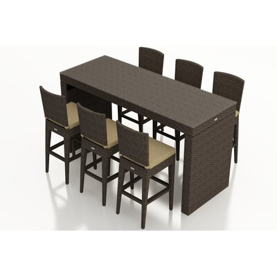 Arden 7 Piece Bar Set with Cushions Fabric: Heather Beige