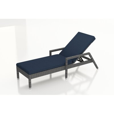 Gerron Chaise Lounge with Cushion Fabric: Spectrum Indigo