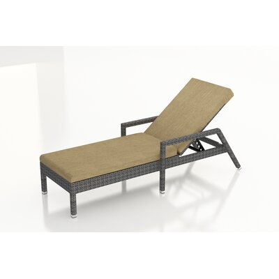 Gerron Chaise Lounge with Cushion Fabric: Heather Beige