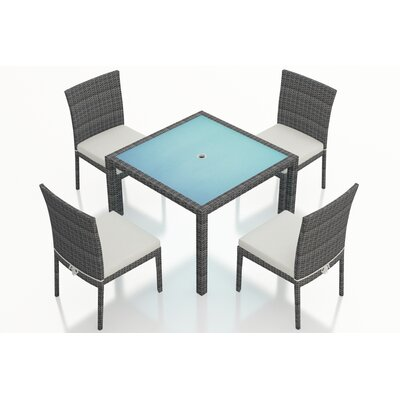 District 5 Piece Dining Set with Cushions Fabric: Canvas Natural