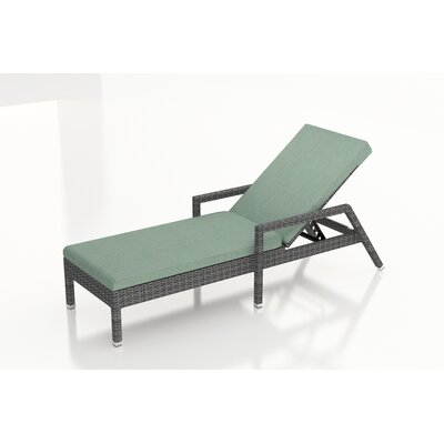 Gerron Chaise Lounge with Cushion Fabric: Canvas Spa