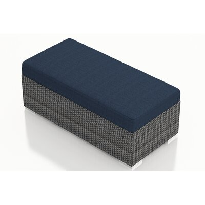 Gerron Double Ottoman with Cushion Fabric: Spectrum Indigo