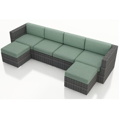 Gerron 6 Piece Deep Seating Group with Cushions Fabric: Canvas Spa