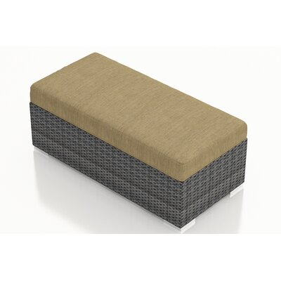 Gerron Double Ottoman with Cushion Fabric: Heather Beige