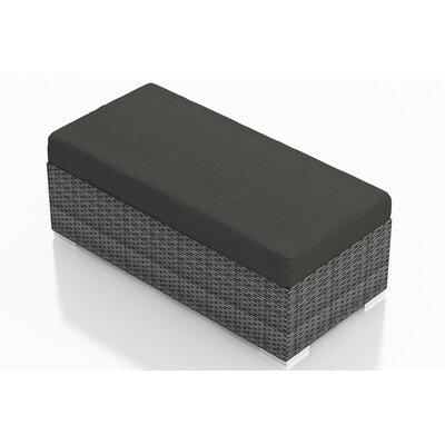 Gerron Double Ottoman with Cushion Fabric: Canvas Charcoal