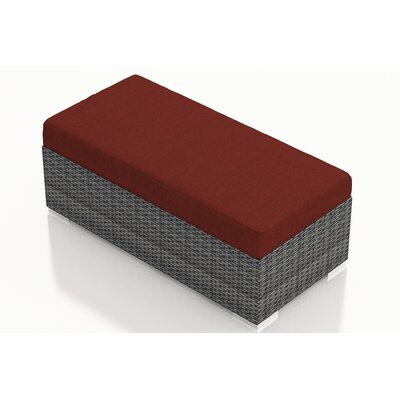 Gerron Double Ottoman with Cushion Fabric: Canvas Henna