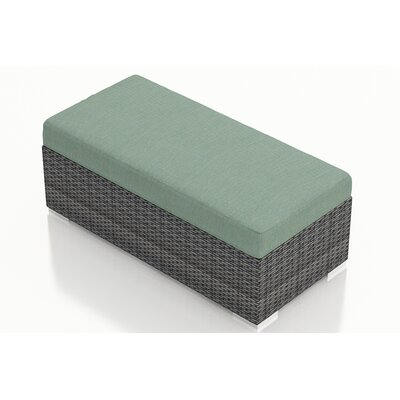 Gerron Double Ottoman with Cushion Fabric: Canvas Spa