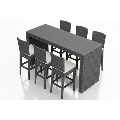 District 7 Piece Bar Set with Cushions Fabric: Canvas Natural