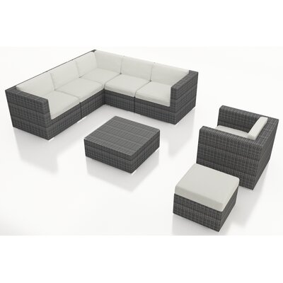 Gerron 8 Piece Deep Seating Group with Cushions Fabric: Canvas Natural