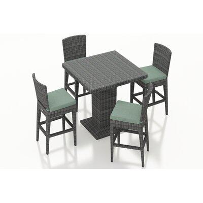 Gerron 5 Piece Bar Set with Cushions Fabric: Canvas Spa