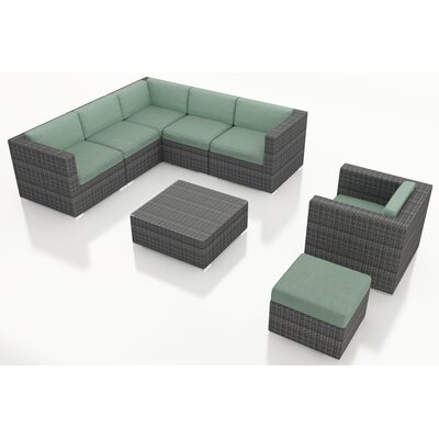 Gerron 8 Piece Deep Seating Group with Cushions Fabric: Canvas Spa